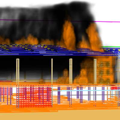 Fire, smoke and temperature simulations
